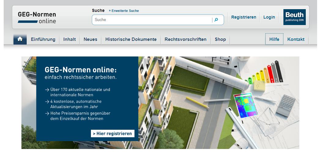 EnEV-Normen online